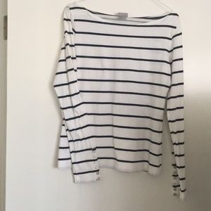 H&M Scoop Neck Long Sleeve w/Buttons - Sz M